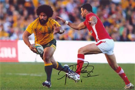 Tatafu Polota-Nau, Australia, signed 12x8 inch photo.